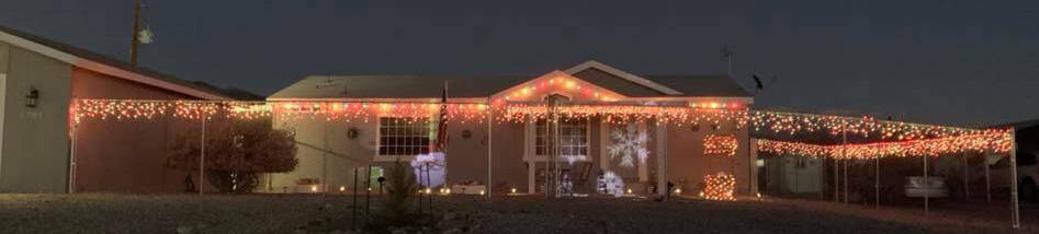 Lucille Kancso/Special to the Pahrump Valley Times Drive along Country Place, off Highway 160, to see this colorful display of Christmas cheer.