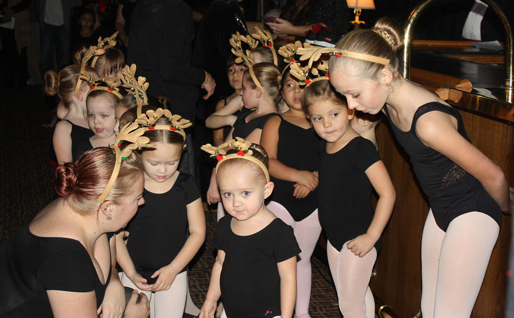 Robin Hebrock/Pahrump Valley Times The Pre-Ballet Dancers from Donna's Dance Studio are pictured awaiting the moment when they would take to the stage.