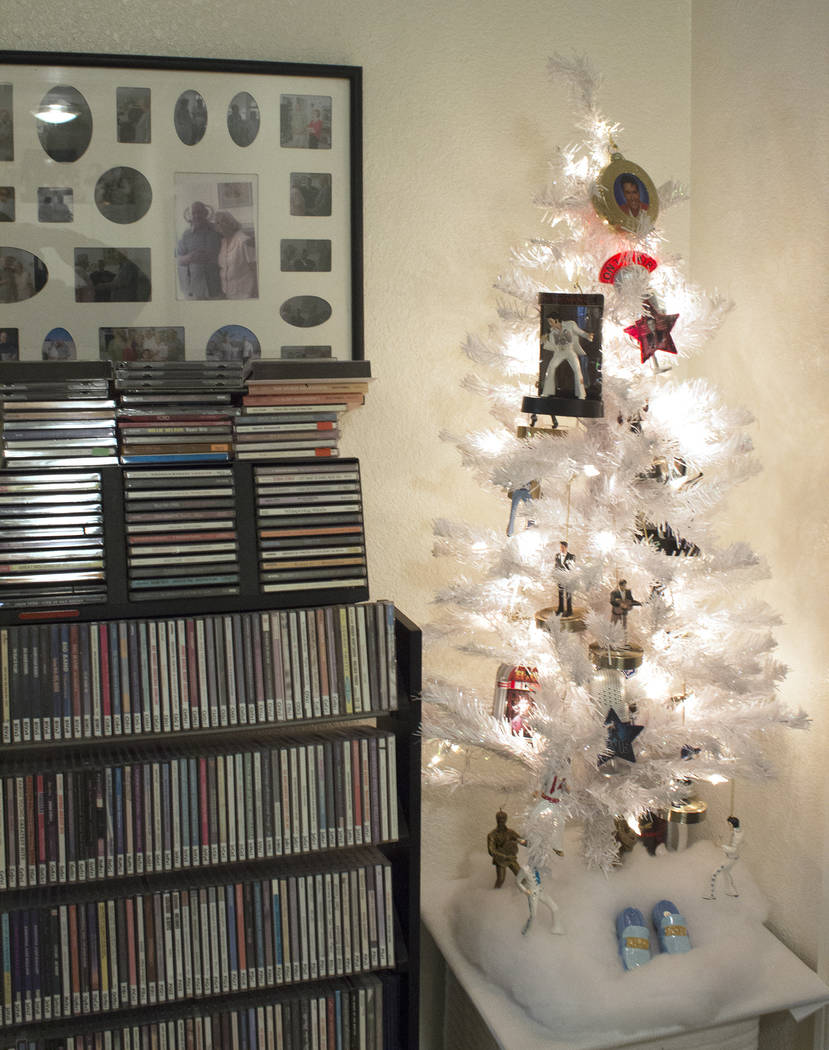 Jeffrey Meehan/Pahrump Valley Times Pictured is an Elvis-themed tree inside a Pahrump residence. The tree is one of more than two dozen open for public viewing by local couple Curt and Dot Ahrens.