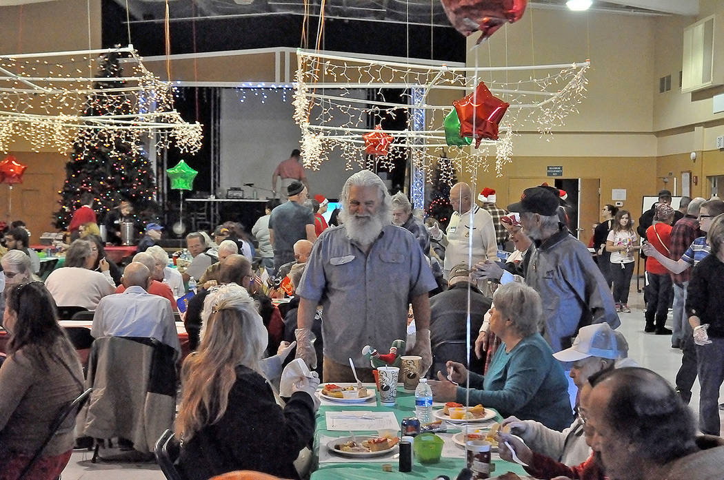 Horace Langford Jr./Pahrump Valley Times A huge crowd gathered for the Community Christmas Brunch, hosted by the Holiday Task Force, and the NyE Communities Coalition was decked out in style to ce ...