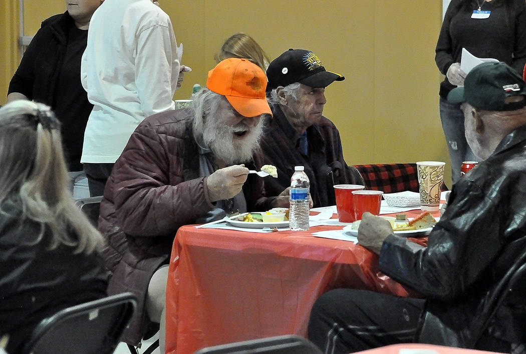 Horace Langford Jr./Pahrump Valley Times The entire population was invited to the Holiday Task Force's most recent community meal, where they were able to enjoy a freshly prepared brunch free of c ...