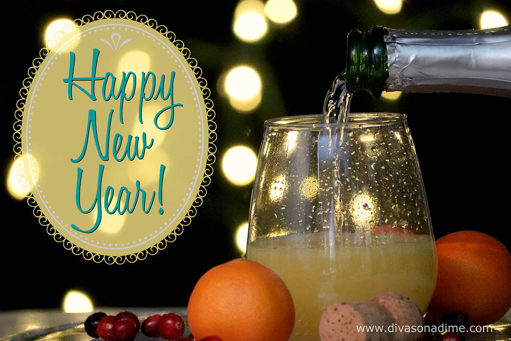 Patti Diamond/Special to the Pahrump Valley Times End the year on a high note with a lovely, low stress cocktail party for New Year's Eve. Set up a mimosa bar and let your guests create their ow ...