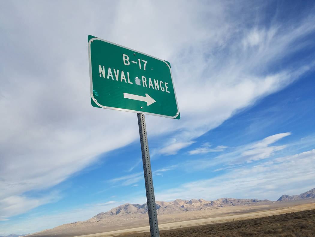 David Jacobs/Times-Bonanza A part of the Navy's Fallon Range Training Complex as shown in this Oct. 10,2016 photo along U.S. Highway 50 between Fallon and Gabbs.
