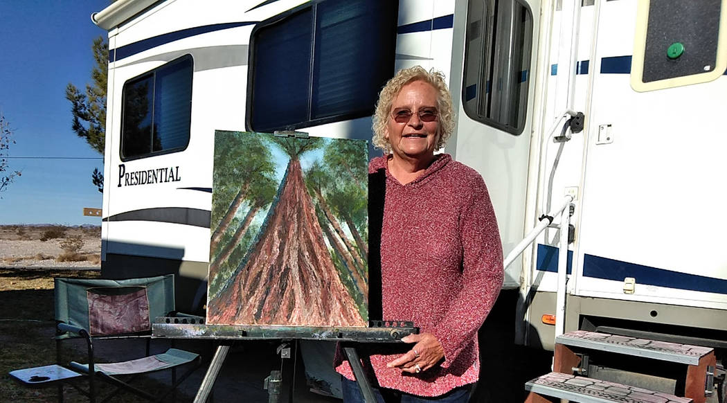 Selwyn Harris/Pahrump Valley Times Sandee Claypool and her husband Paul have made the journey to Pahrump's Best Western RV park, from Linesville, Pennsylvania for 11 consecutive years. While her h ...