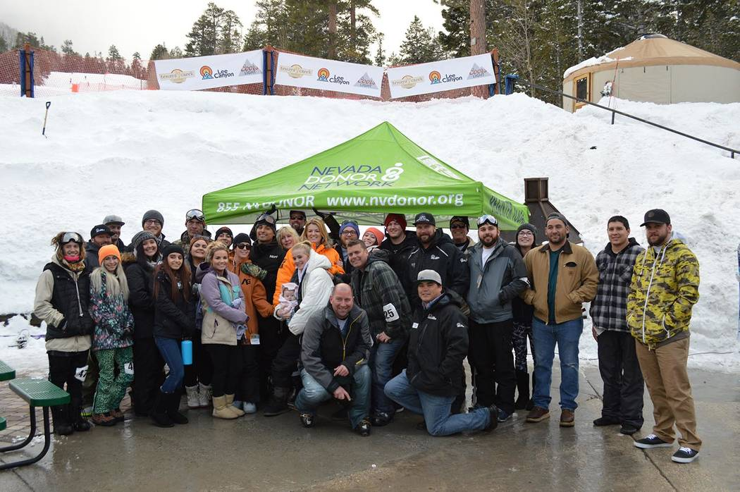 Special to the Pahrump Valley Times Participants at the third annual Ruby Cup held in January 2018 at Lee Canyon to benefit Nevada Donor Network.