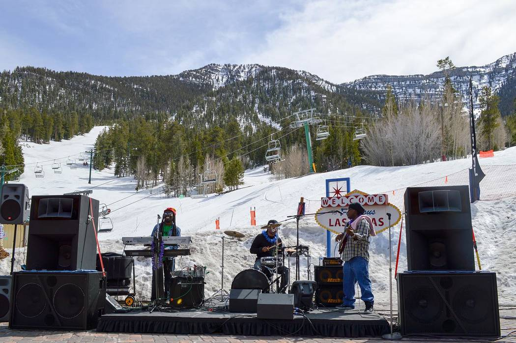 Special to the Pahrump Valley Times Live entertainment is part of the festivities each January when Lee Canyon hosts the Ruby Cup, which honors the memory of Chris Ruby, 20, whose organs helped sa ...