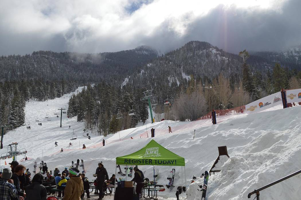 Special to the Pahrump Valley Times Ruby Cup host Lee Canyon offers 195 acres of terrain that averages 161 inches of snowfall annually. There are 27 trails serviced by three chair lifts, and ski a ...