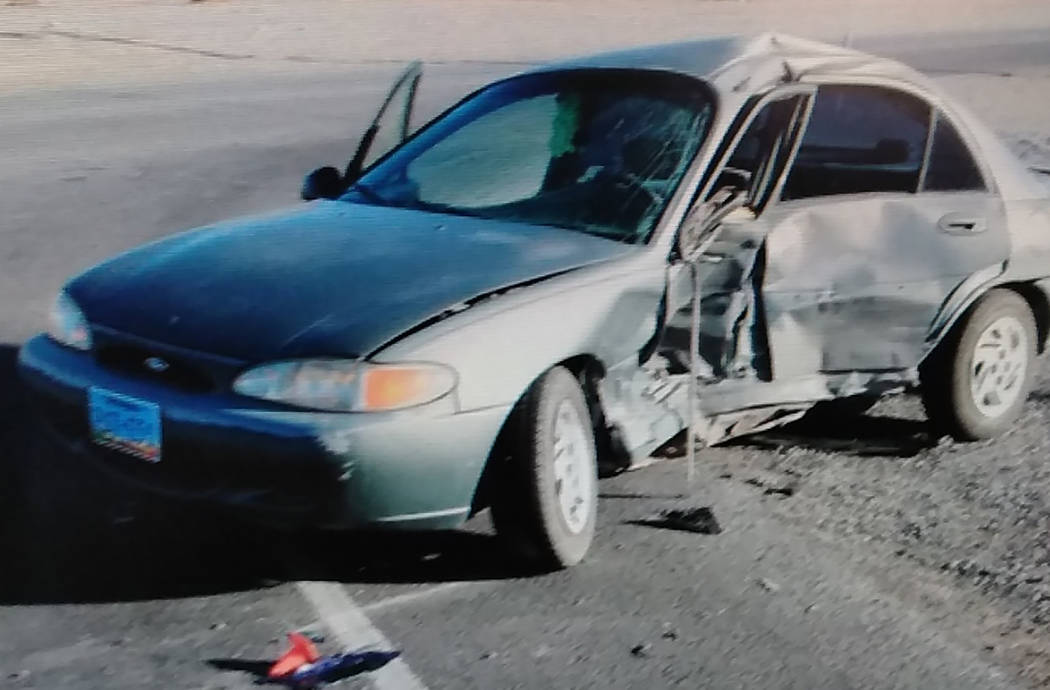 Special to the Pahrump Valley Times Pahrump resident Steven John Howard, 57, was the driver who failed to yield to a stop sign at the intersection of Mesquite Avenue and Highway 160 on Thursday D ...