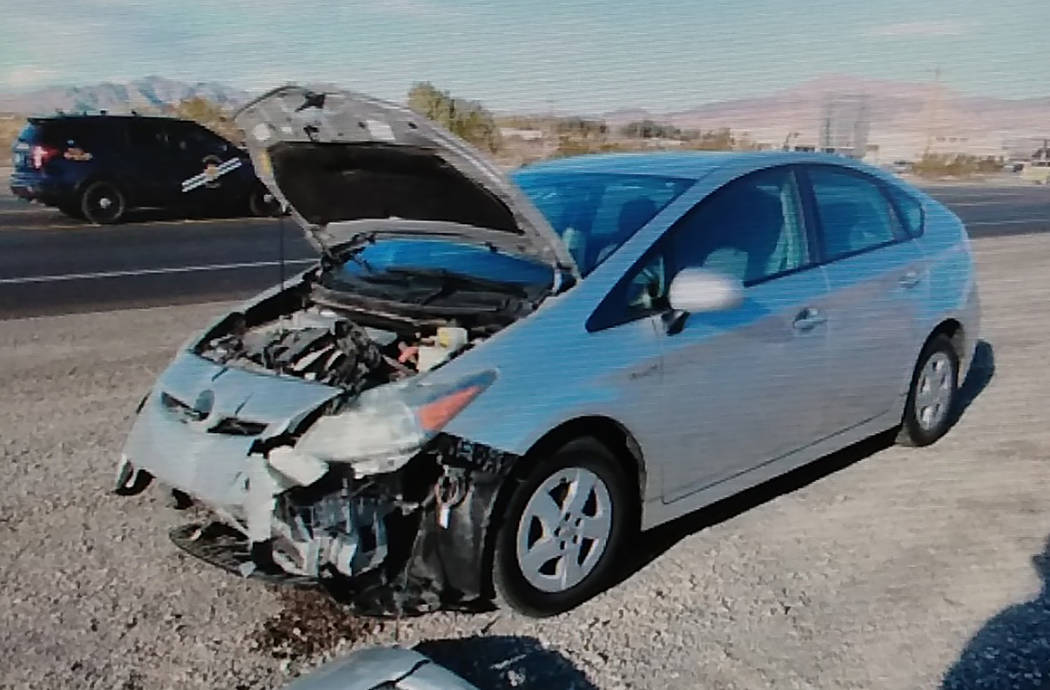 Special to the Pahrump Valley Times NHP has yet to identify the second individual driving a Toyota Prius southbound on Highway 160 at the time of the fatal crash.