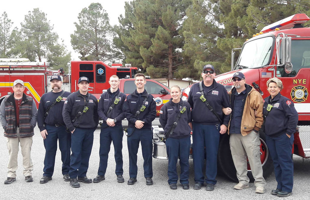 Special to the Pahrump Valley Times More than a dozen Pahrump Firefighters/EMT's assisted in delivering holiday meals to area senior citizens. The effort, which also allows crews to assess the phy ...
