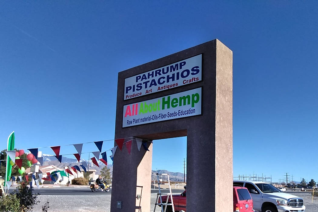Selwyn Harris/Pahrump Valley Times All about Hemp is located at 1400 South Highway 160. Store hours are Monday through Friday 11 a.m. to 7 pm., and Saturdays from 11 a.m. to 4 pm.