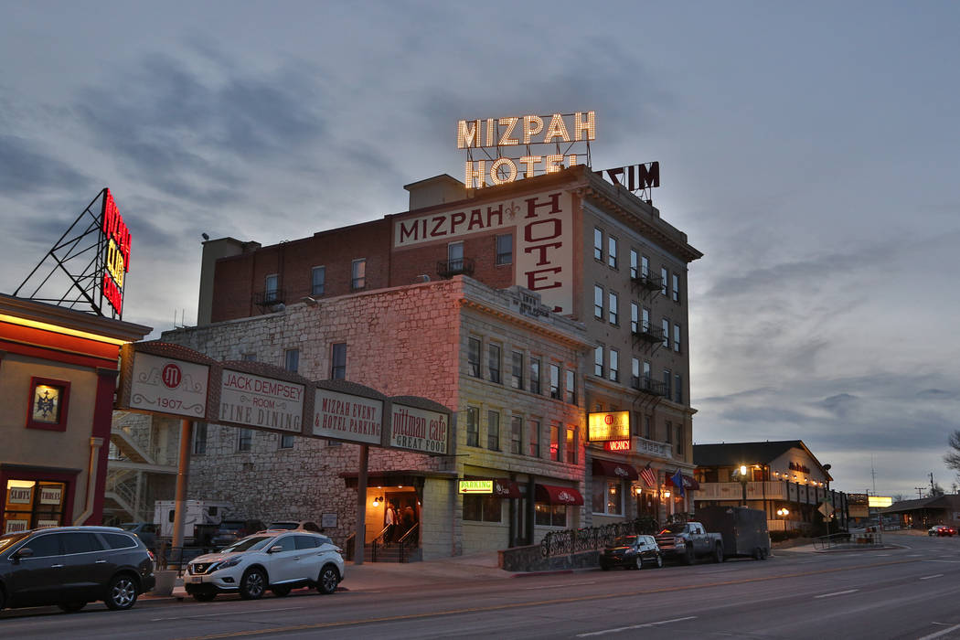 Edison Graff/Speical to the Pahrump Valley Times Nevada Gov. Steve Sisolak stopped at the Mizpah Hotel on his trip up to Carson City from Las Vegas. He was inaugurated on Jan. 7, 2019.