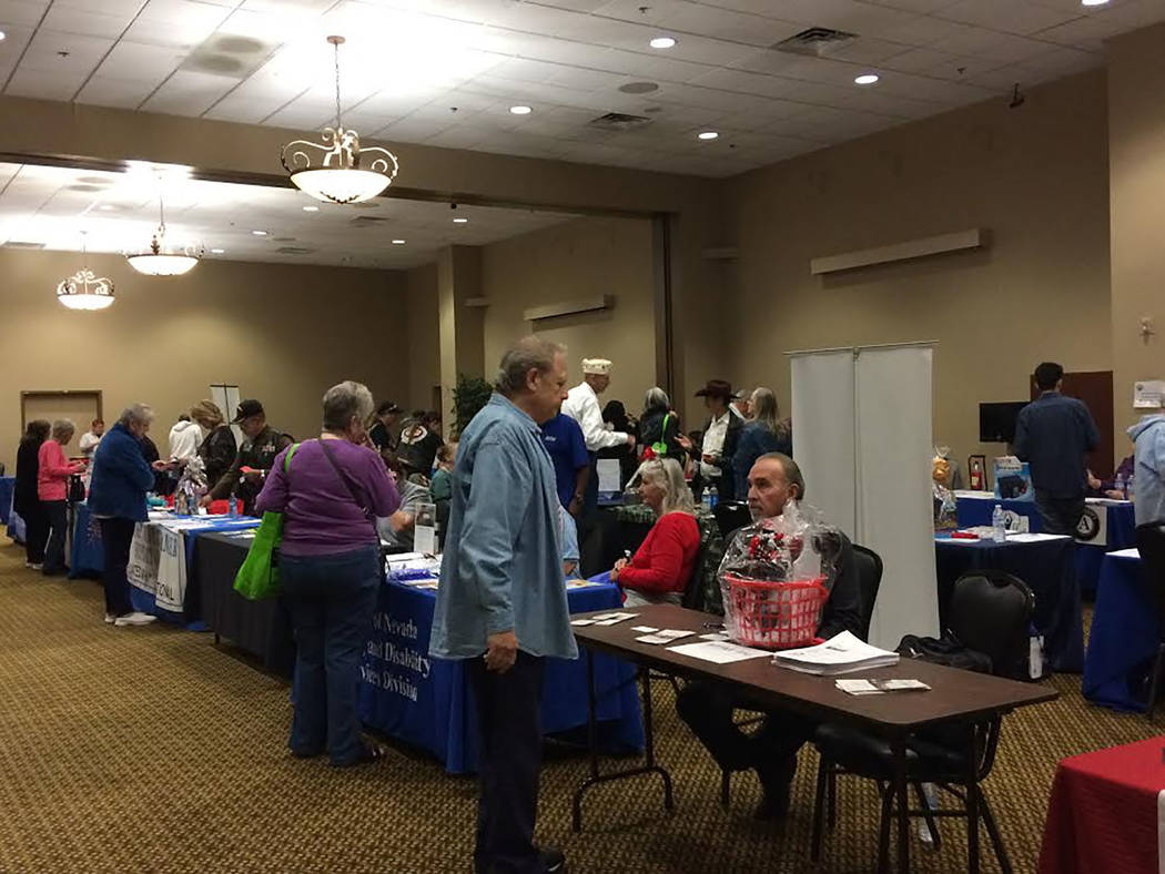 Robin Hebrock/Pahrump Valley Times This file photo shows the scene at the 3rd Annual Social Services Fair, hosted by Nye County Health and Human Services, where attendees moved from booth to booth ...