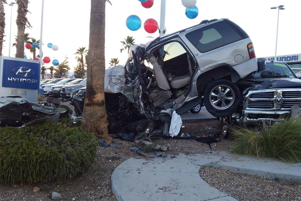 One person died after a fatal crash involving a pedestrian in the west valley on Aug. 4, 2018, Las Vegas police said. (Las Vegas Metropolitan Police Department Traffic/Twitter)