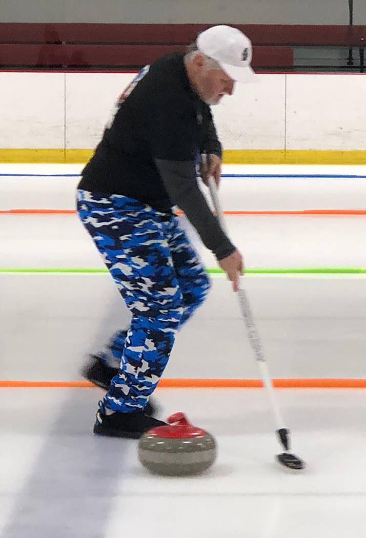 Tom Rysinski/Pahrump Valley Times Pahrump resident Tom Duryea's curling team won the Nevada state championship and will play in the Pacific International Cup in April in Vancouver, British Columbia.