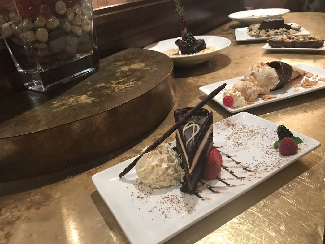 Jeffrey Meehan/Pahrump Valley Times Stockman's Steakhouse, inside the Pahrump Nugget, recently added to its menu. That included several new dessert options.