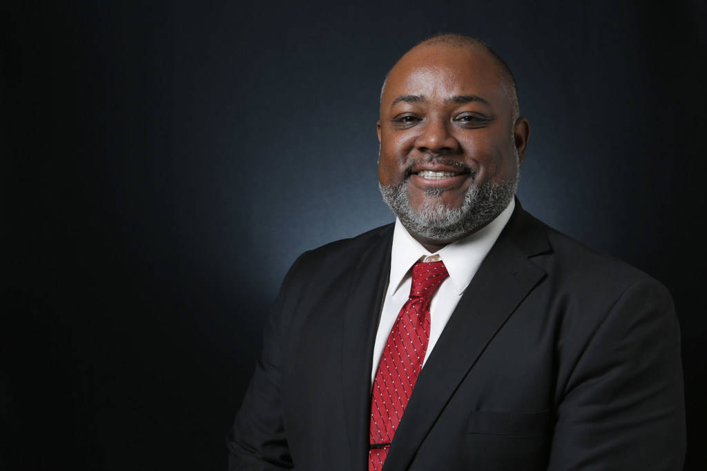 Jason Frierson, Democratic candidate for Nevada State Assembly 8, is photographed at the Las Vegas Review-Journal offices on Thursday, April 19, 2018. Michael Quine/Las Vegas Review-Journal @Vegas88s