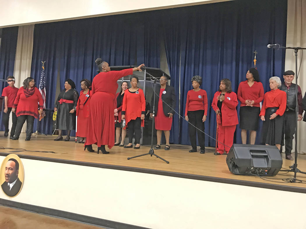 Vern Hee/Special to the Pahrump Valley Times The Martin Luther King Jr. Community Choir was just one of the entertainers gracing the stage during this year's All People's Lunch, a scholarship fund ...