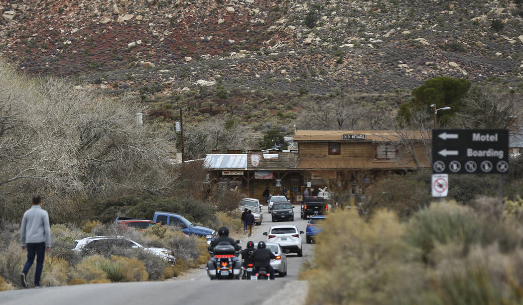 Visitors make their way to Bonnie Springs Ranch outside of Las Vegas on Saturday, Jan. 12, 2019. The ranch is under contract to be sold and demolished for luxury home lots. Chase Stevens Las Vegas ...