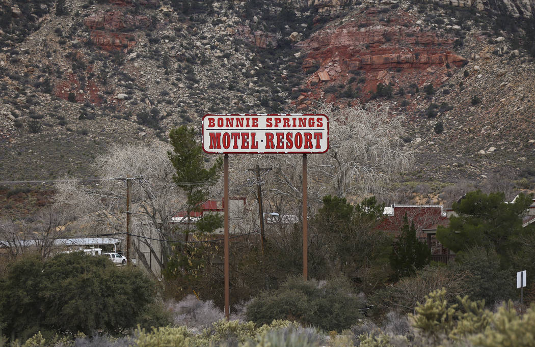 Signage for Bonnie Springs Ranch outside of Las Vegas on Saturday, Jan. 12, 2019. The ranch is under contract to be sold and demolished for luxury home lots. Chase Stevens Las Vegas Review-Journal ...