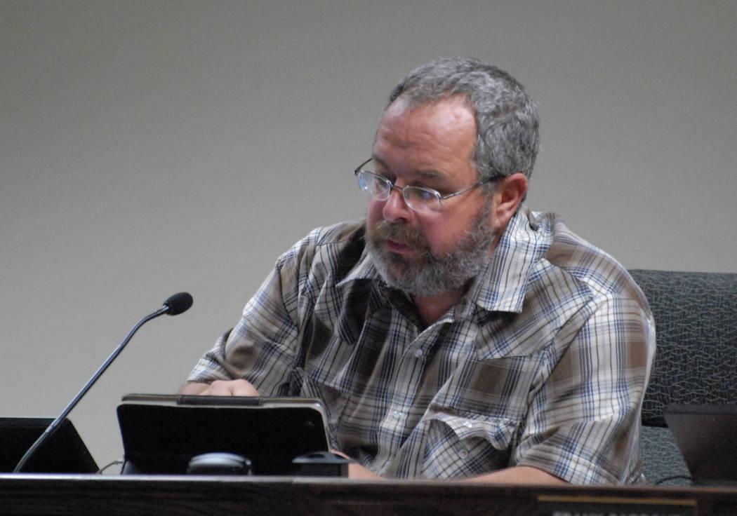Horace Langford Jr. / Pahrump Valley Times Former Nye County Commissioner Dan Schinhofen