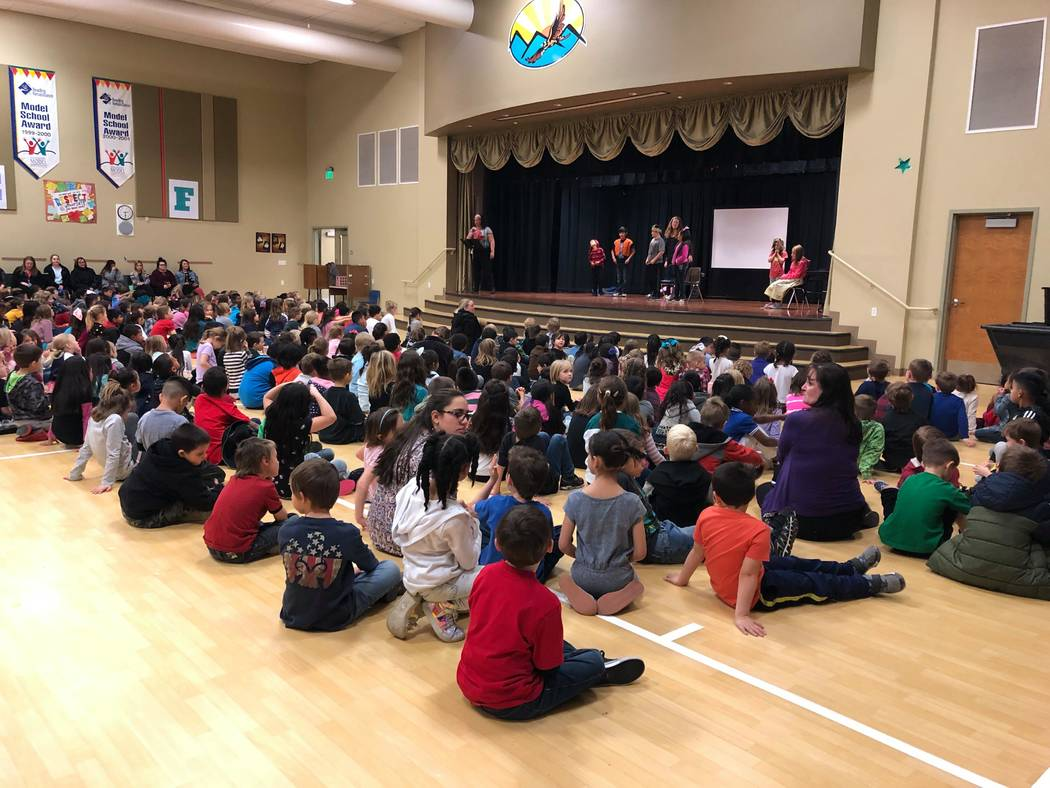 "Teresa Skye/Special to the Pahrump Valley Times Dozens of school-aged kids ready for the upcoming Missoula Children's Theatre (MCT) production. This year's show is ""Snow White & the Seven Dwarfs."""