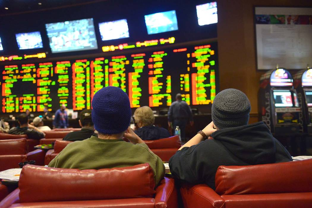 Nevada's sports books set a record for sports wagering volume at $558.4 million in September. (Las Vegas Review-Journal)