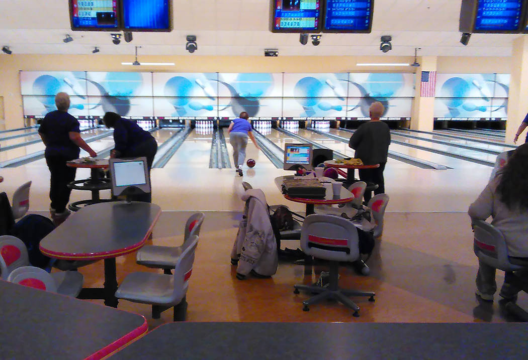 Selwyn Harris/Pahrump Valley Times The Pahrump Nugget Bowling Center hosted its latest perfect game Jan. 23 when Jim Evans rolled his fifth 300.
