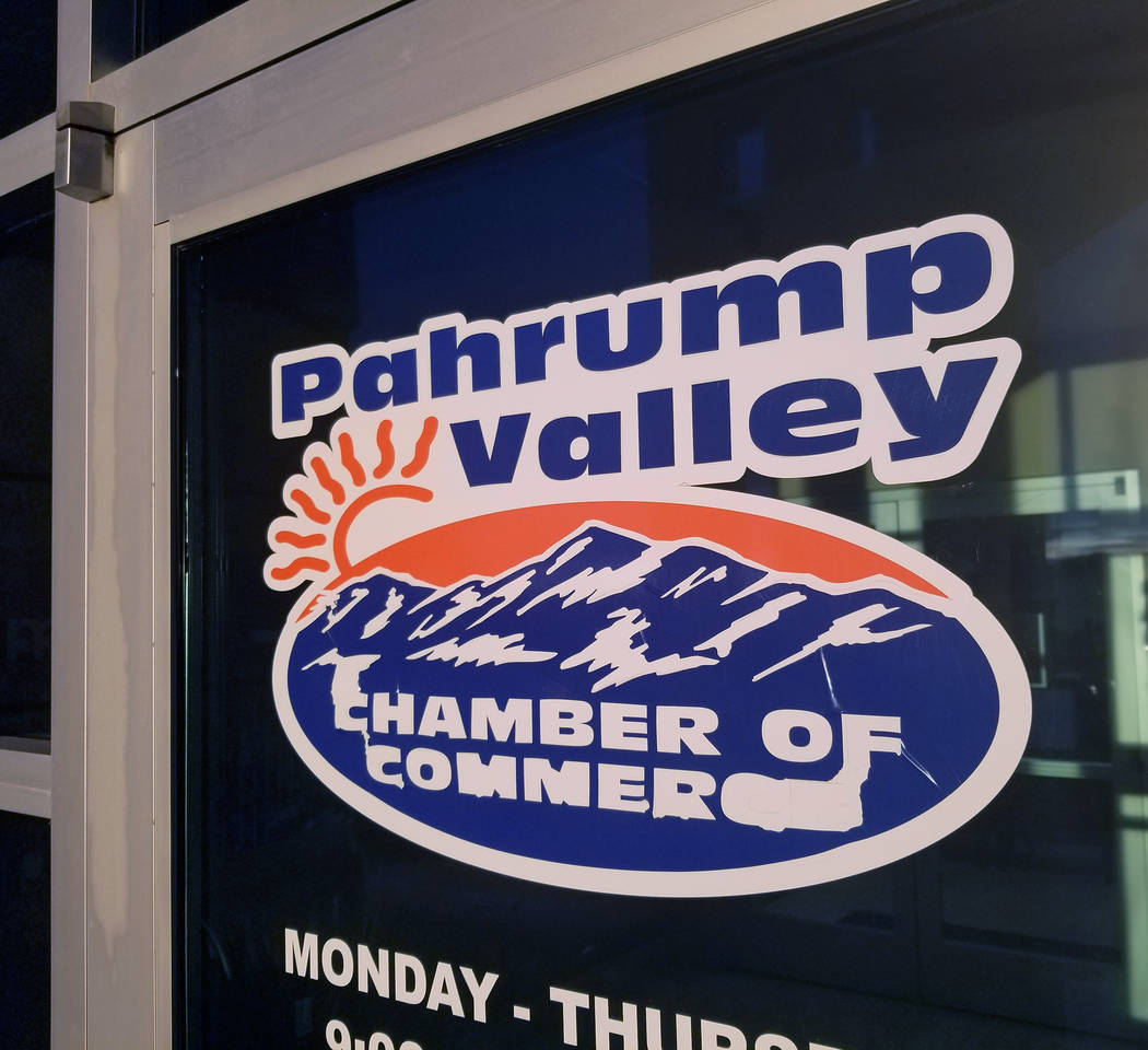 David Jacobs/Pahrump Valley Times The Pahrump Valley Chamber of Commerce's headquarters at 1301 S. Highway 160. The office is located on the second floor of the building.