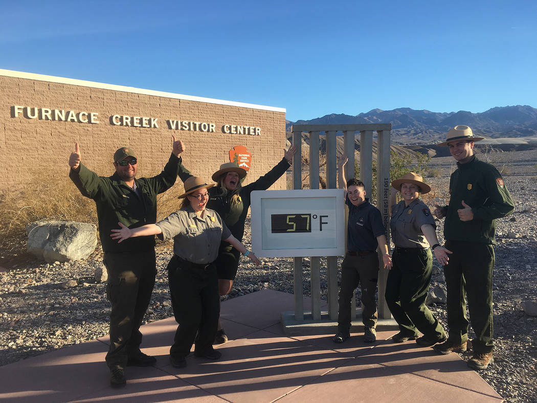 Special to the Pahrump Valley Times Employees at Death Valley National Park rejoice this week after operations resumed on Monday. The park's employees were part of the roughly 800,000 federal wo ...
