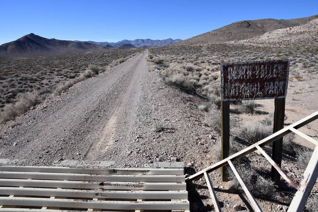 Richard Stephens/Special to the Pahrump Valley Times This sign indicates what park boundary entrance you have reached.