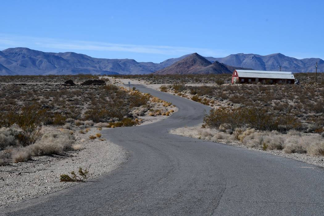 """Richard Stephens/Special to the Pahrump Valley Times GPS and Google call this """"Pioneer Road"""" and the Red Barn Art Center, not to be confused with the Pioneer Road north of Beatty."""