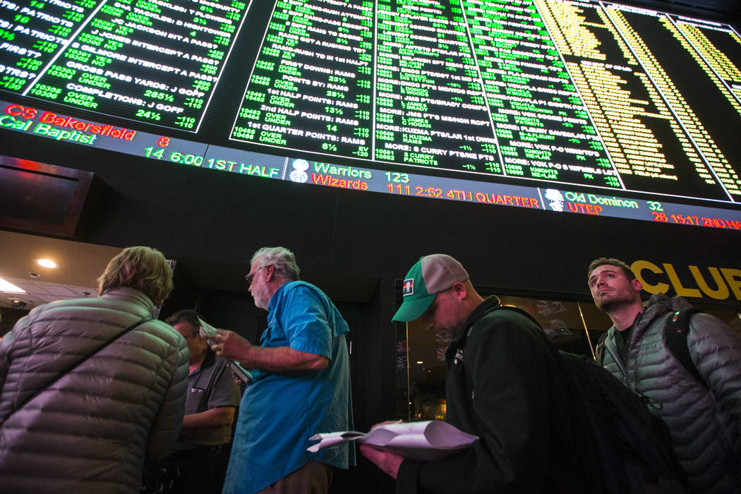 Chase Stevens/Las Vegas Review-Journal The Retail Association of Nevada, citing the National Retail Federation's survey, stated in a news release that the amount of wagering during Super Bowl LIII ...
