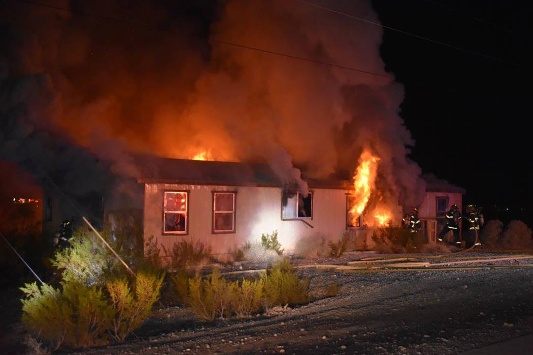 Special to the Pahrump Valley Times Pahrump fire crews responded to a structure fire along the 1400 block of Highway 160 just after 10:30 p.m. on Sunday Jan. 27. The long-vacant structure, once a ...