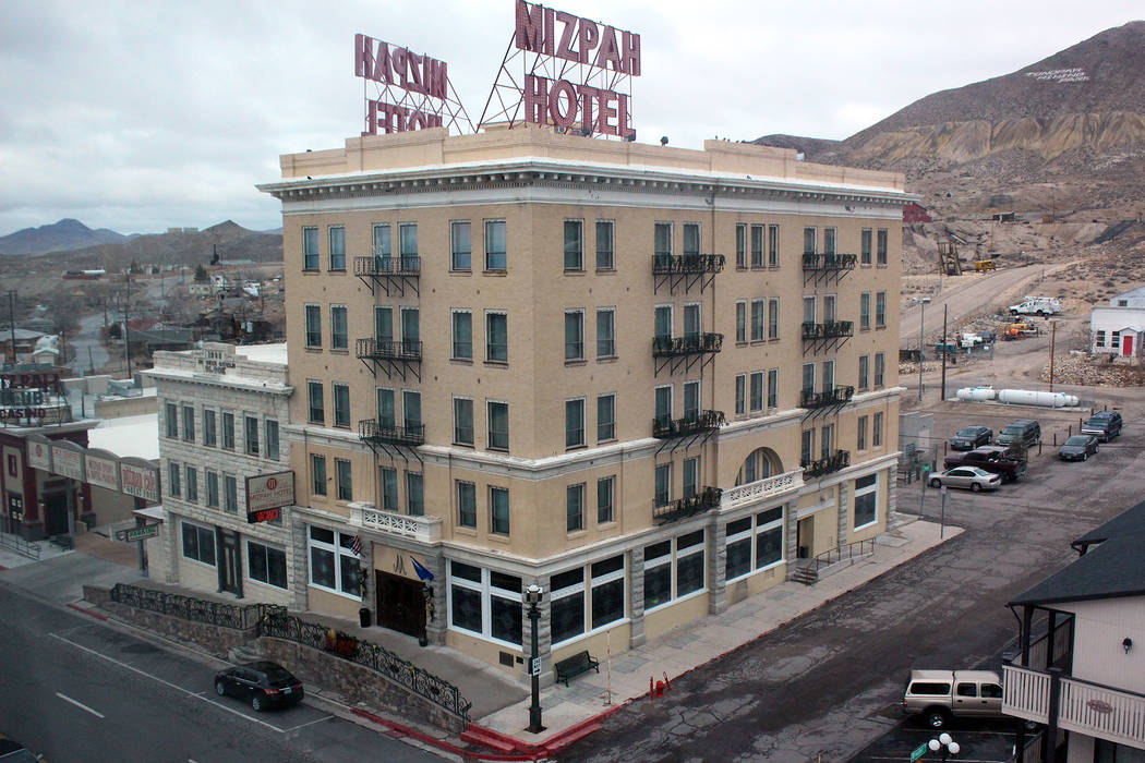 Jeffrey Meehan/Times-Bonanza The Mizpah Hotel in Tonopah was one of the major projects Fred and Nancy Cline have done in the Tonopah area. The family's next project is the Belvada, pegged to come ...