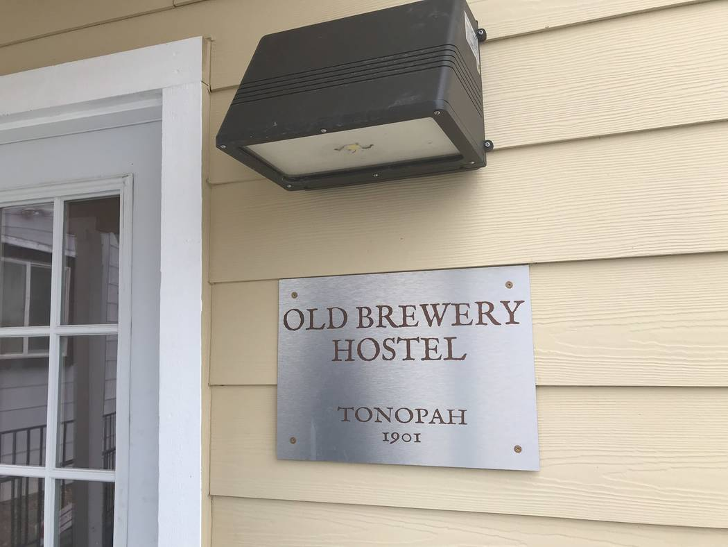 Jeffrey Meehan/Times-Bonanza Entrance to the Old Brewery Hostel in Tonopah. The 10-room hostel opened in 2018 after a refurbishment project, led by the family that brought back the Mizpah to life ...