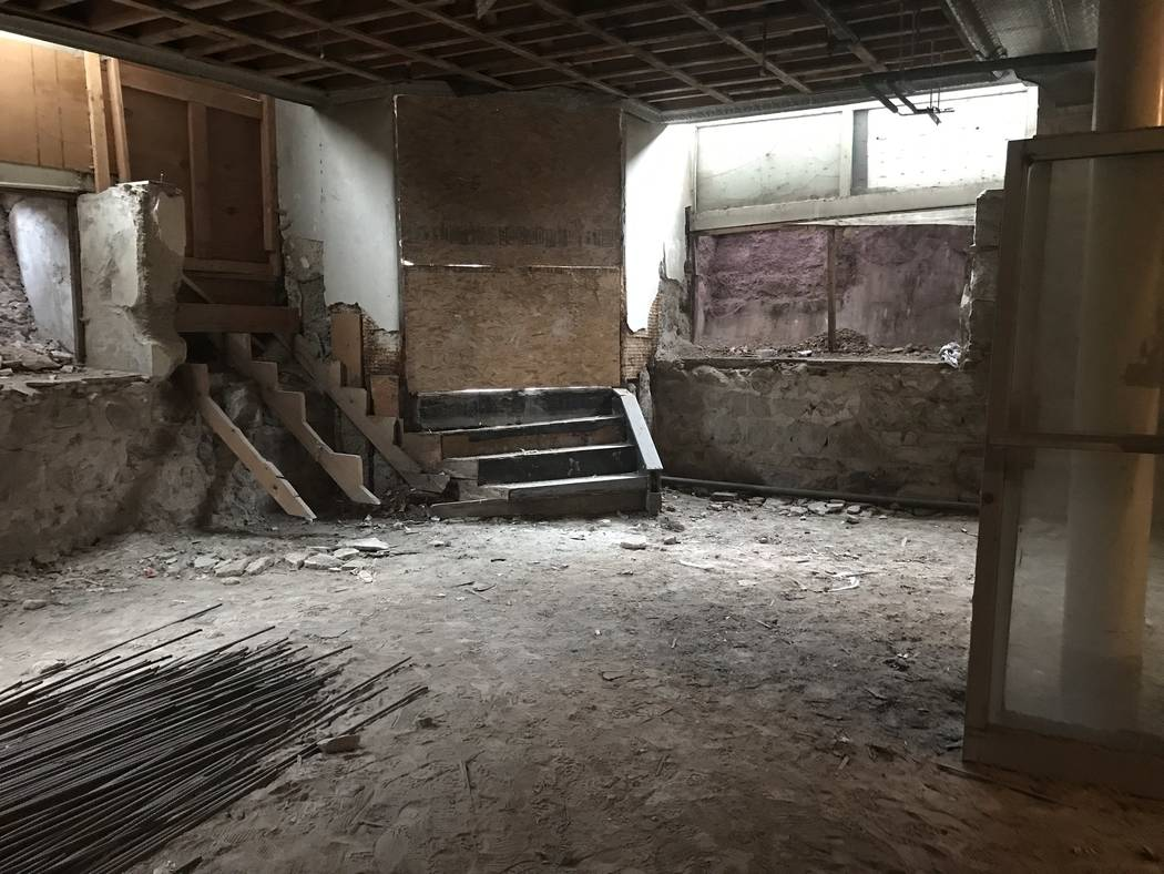 Jeffrey Meehan/Times-Bonanza The basement area of the Belvada could eventually house a speakeasy, though plans for that are still not definite. The 40-room hotel and retail space is pegged to ope ...