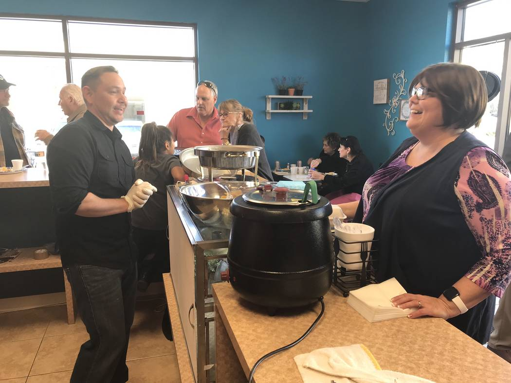 Jeffrey Meehan/Pahrump Valley Times Customers packed a new eatery at 3640 S. Highway 160, Ste. 104 that focuses on tamales on Jan. 29. The new restaurant has several styles of tamales and other food.