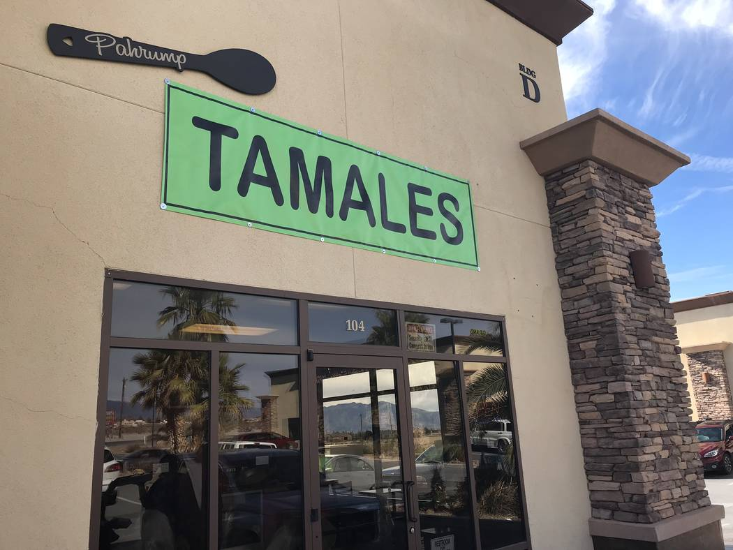 Jeffrey Meehan/Pahrump Valley Times A new eatery in Pahrump is service up several types of tamales, including dessert options. Check it out at 3640 S. Highway 160, Ste. 104.