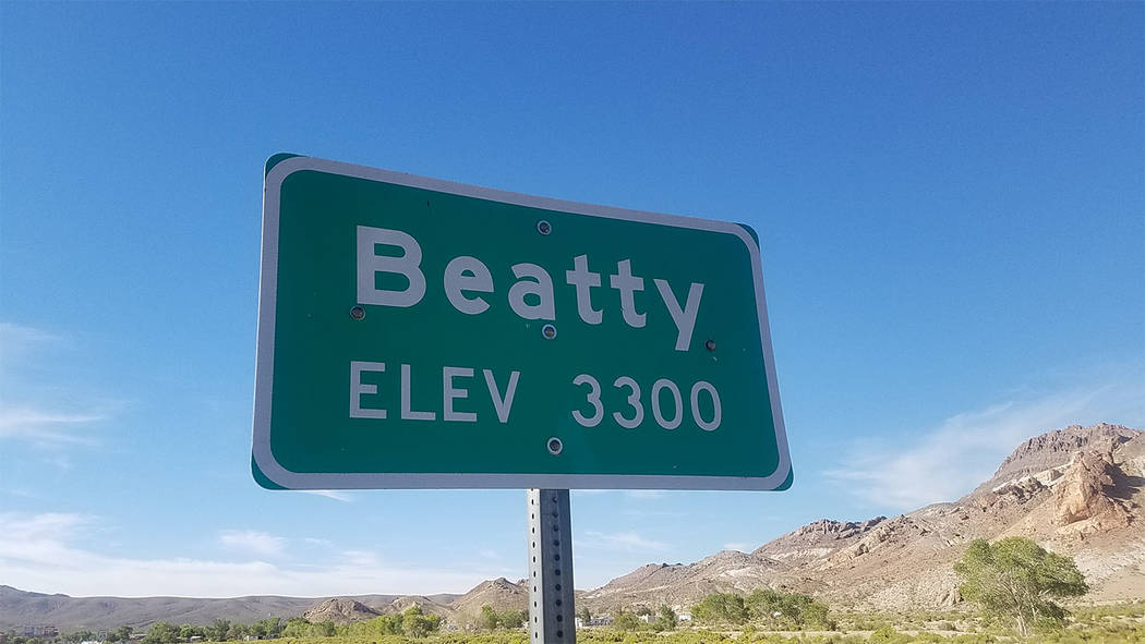 David Jacobs/Pahrump Valley Times Erika Gerling, Beatty treasurer, said that many jobs in Beatty are service-related.
