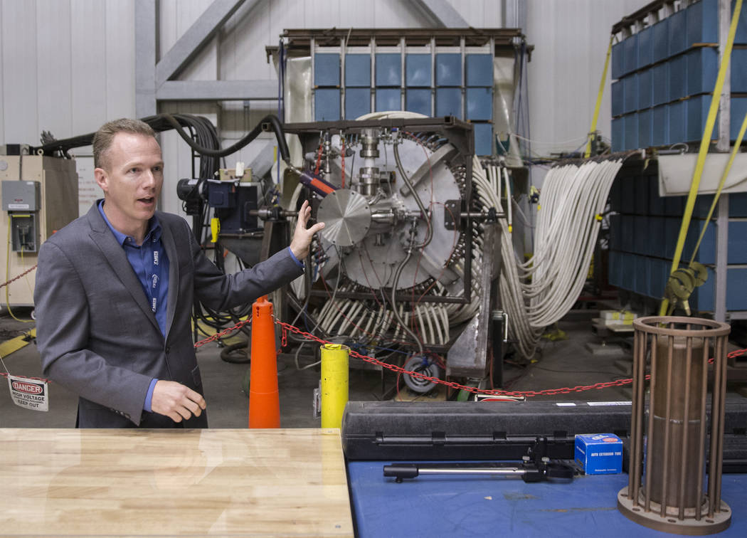 Daniel Lowe, a program manager with the Neutron Diagnosed Subcritical Experiment with Mission Support and Test Services, discusses his role at the North Las Vegas campus of the Nevada National Sec ...