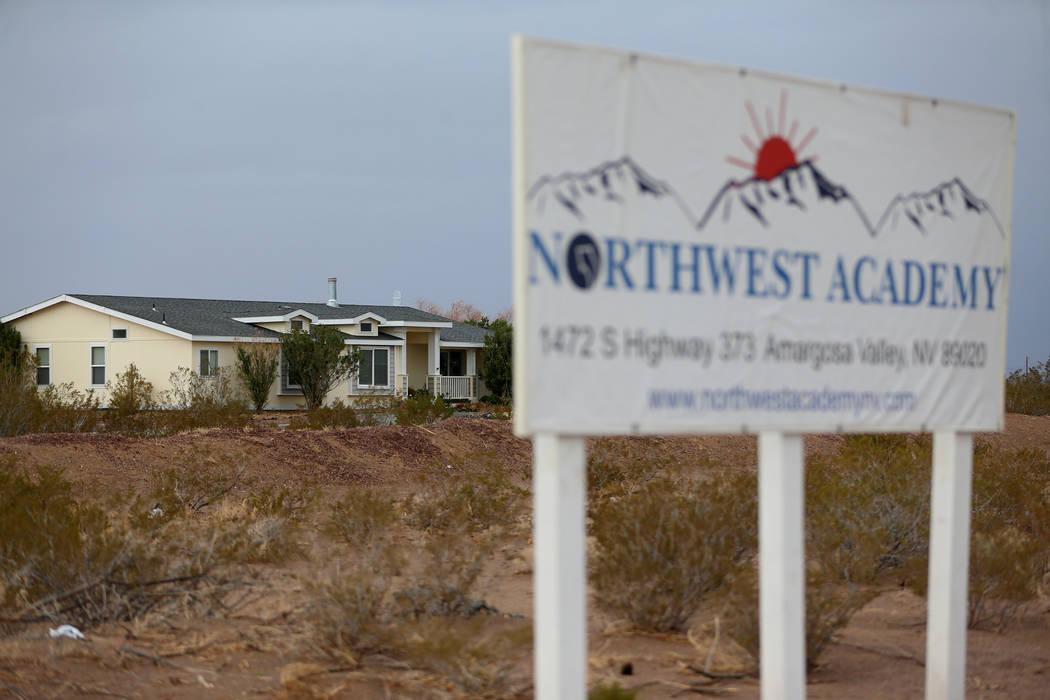 A house on the property of Northwest Academy in Amargosa Valley, Saturday, Feb. 2, 2019. (Erik Verduzco/Las Vegas Review-Journal) @Erik_Verduzco