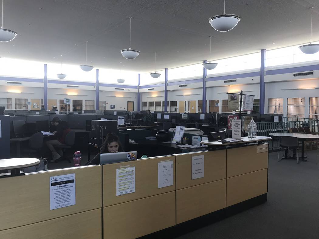 Jeffrey Meehan/Pahrump Valley Times The information desk at Great Basin College on Feb. 6, 2019. The Pahrump campus is located adjacent to Pahrump Valley High School at 551 E. Calvada Blvd.