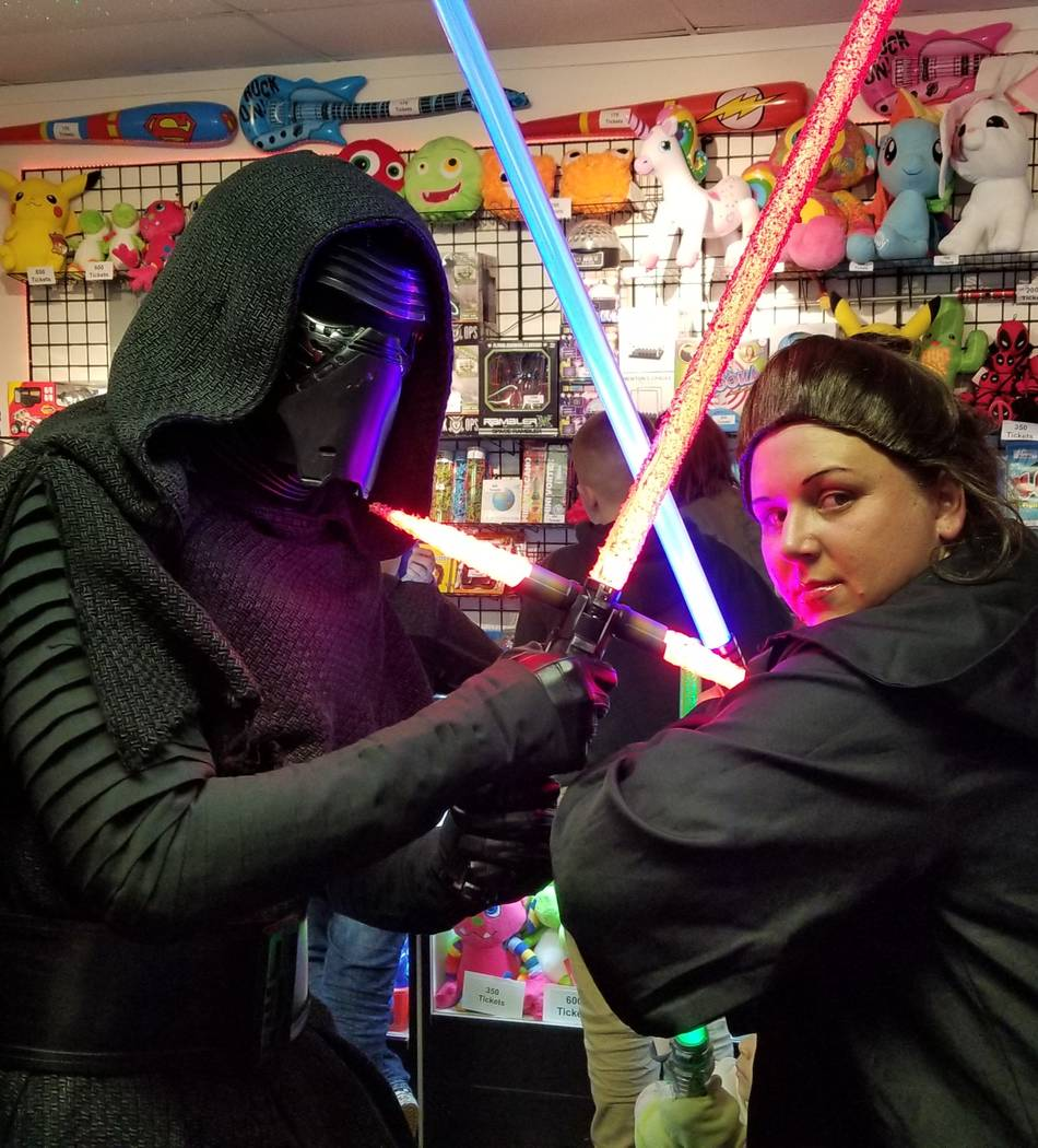 Josh Osborne/Special to the Pahrump Valley Times Owners of the Game Corner & Family Fun Center-Pahrump hope to grow its relations with local cosplayers. Activities could include cosplay-themed ev ...