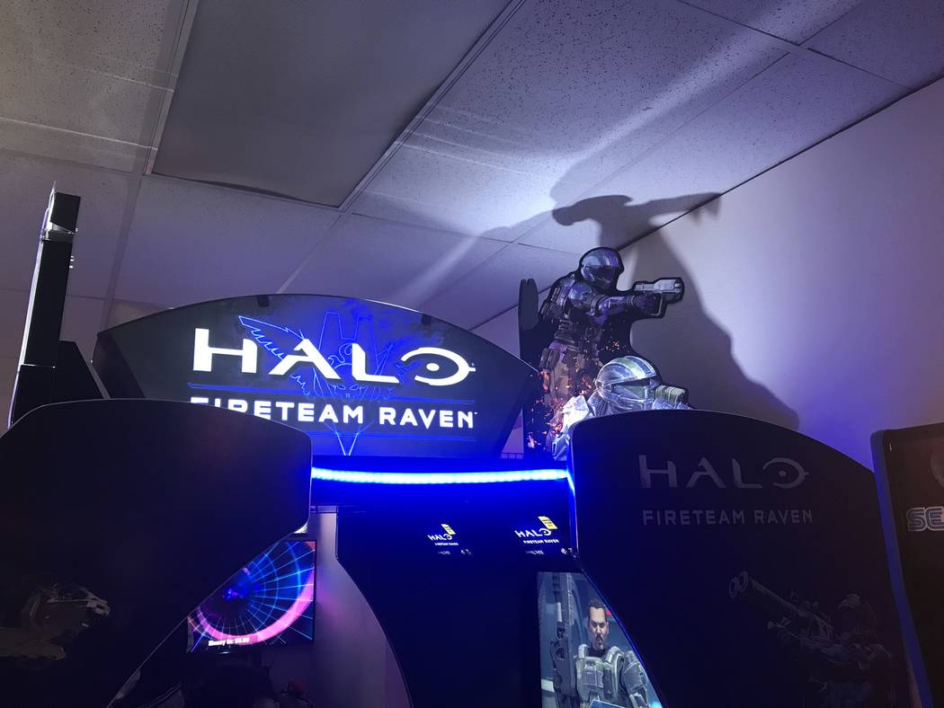 Jeffrey Meehan/Pahrump Valley Times The new Halo arcade game at the Game Corner & Family Fun Center-Pahrump. The center, at 1190 E. Highway 372, Suite 8, had a grand reopening celebration in early ...