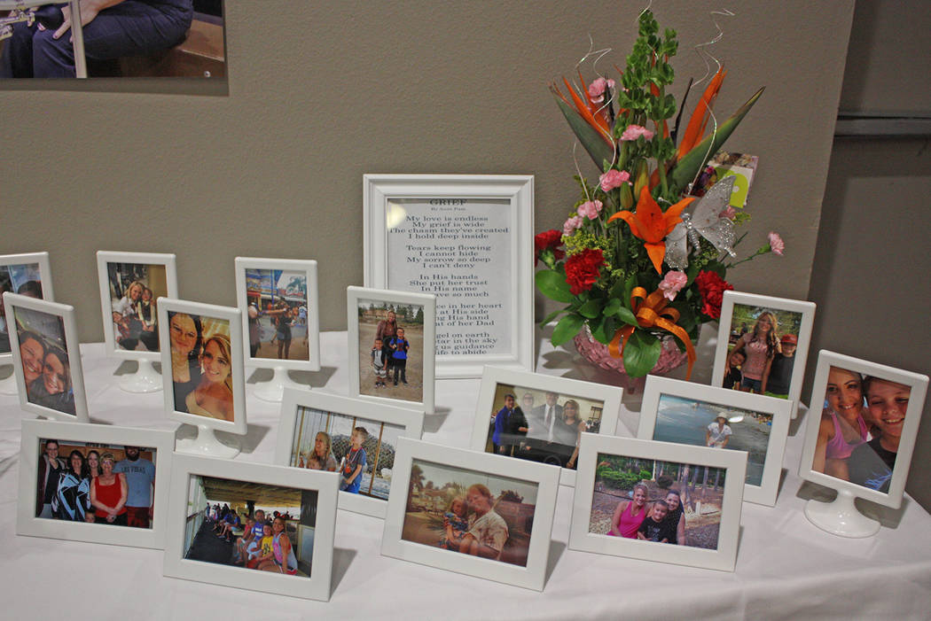 Robin Hebrock/Pahrump Valley Times Photo displays were also accompanied by several poems penned by those who knew and loved Cassandra Selbach.