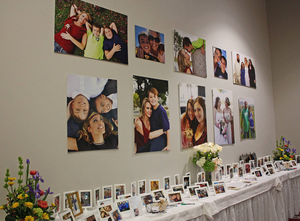 Robin Hebrock/Pahrump Valley Times Many of the photographs at Cassandra Selbach's memorial showed her with her two sons, Jacob and Jonathan, to whom she was a dedicated mother. Others offered snap ...