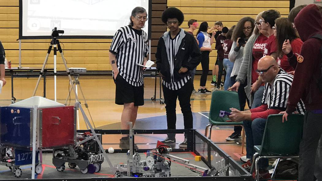 Jeffrey Meehan/Pahrump Valley Times The Pahrump Southern Nye County 4-H team made it to the finals in the 2018-2019 season of the FIRST (For Inspiration and Recognition of Science and Technology) ...
