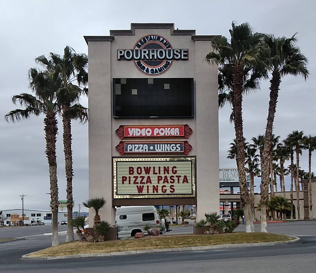 Selwyn Harris/Pahrump Valley Times The Pourhouse along Highway 160 is the host bar for Saturday's Battle of the Bars Karaoke Contest. Pahrump resident Marvin Caperton is coordinating the multi-wee ...