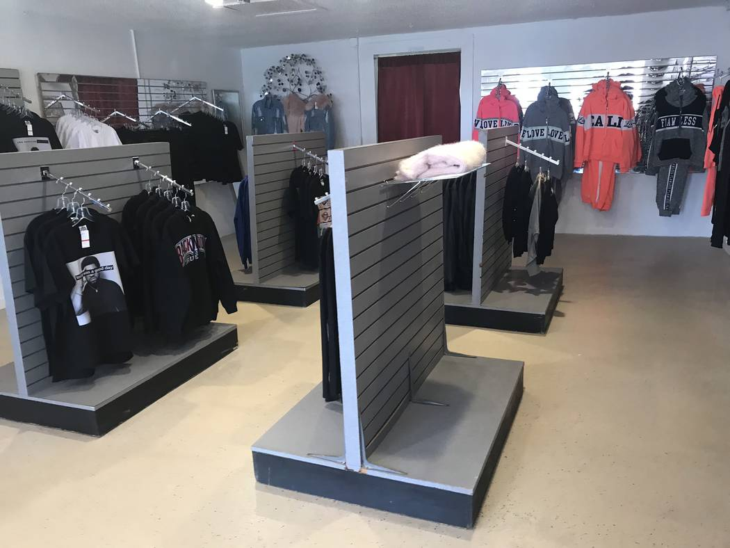 Jeffrey Meehan/Pahrump Valley Times Off the Street, a new clothing shop in Pahrump, is offering locals new options for apparel. The store, at 111 S. Frontage Road, Suite 7, is open 10 a.m. to 6 p. ...